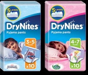 Free Drynites Nappies