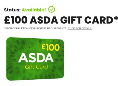 Free Asda Gift Card 2021