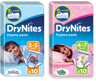 Free Drynites Nappies