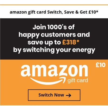 Switch and Save on Energy Bills