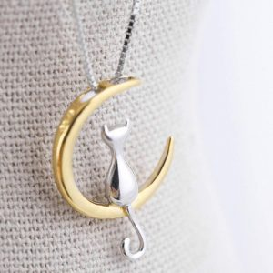 GOLD CAT NECKLACE