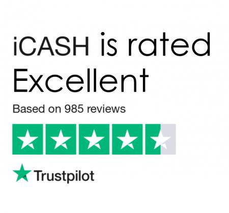 icash rated excellent on Trustpolit